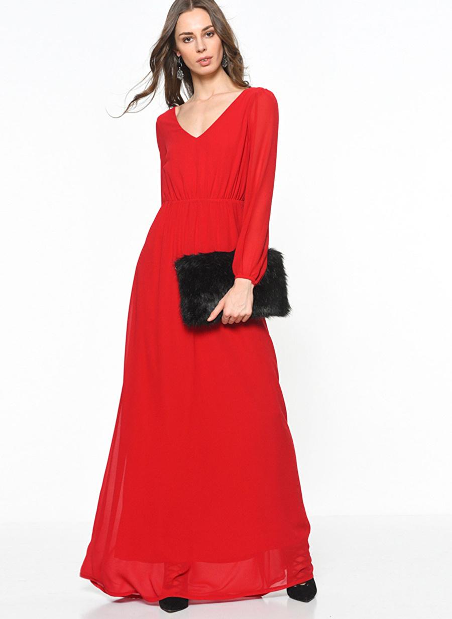 XS Kırmızı Wild Pony Elbise Kadın Giyim