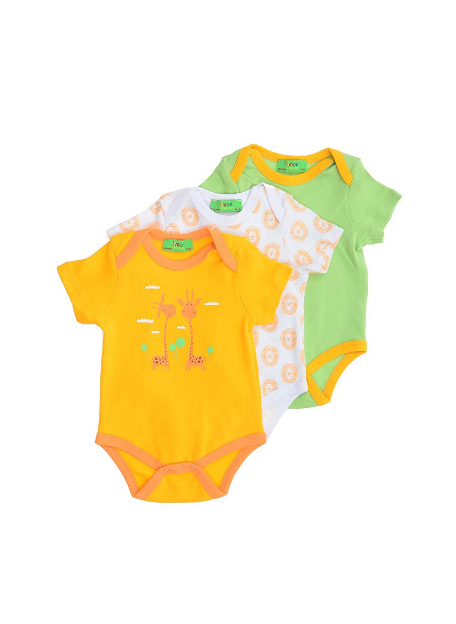 1 Ay Erkek Çok Renkli Limon Bebek Uyku Seti Çocuk Araç Gereçleri Çarşaf Havlu Kılıfı