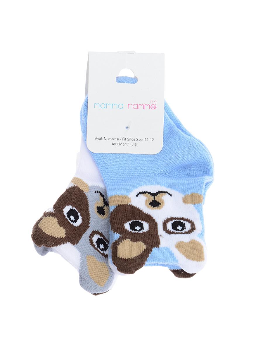12 Ay Erkek Çok Renkli Mammaramma Soket Çorap Outlet Çocuk İç Giyim