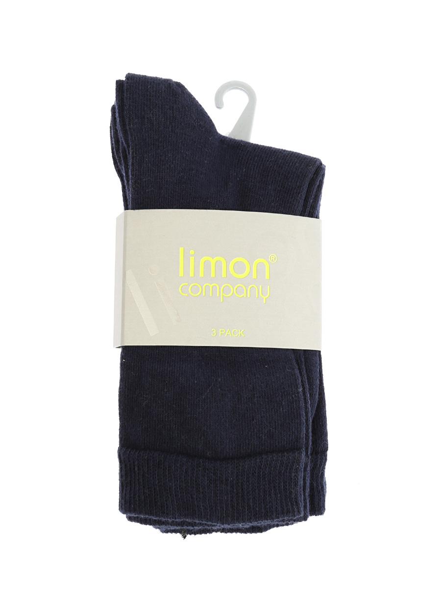 3-6 Yaş Erkek Koyu Lacivert Limon Soket Çorap Çocuk Ev İç Giyim