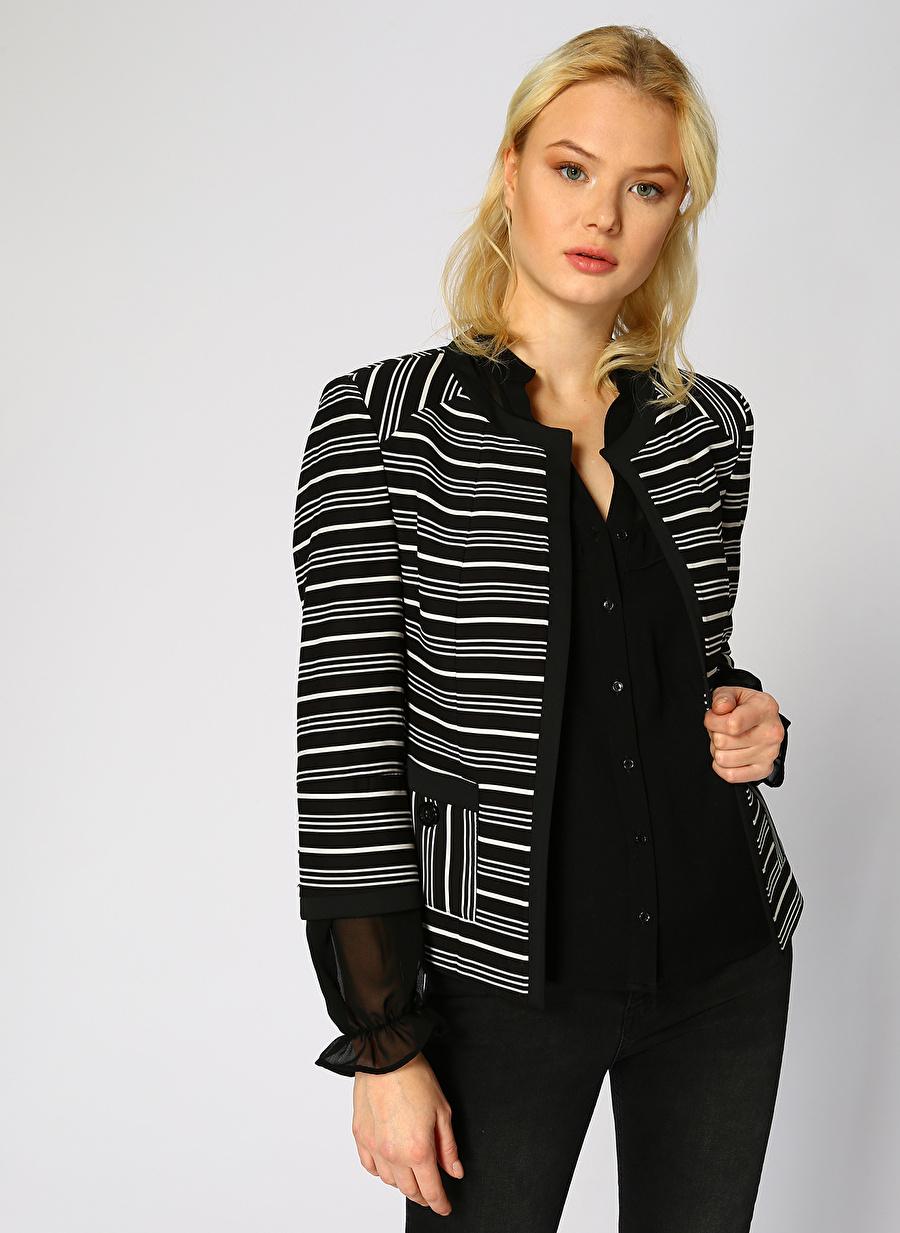 38 Siyah Ekol Ceket Kadın Büyük Beden