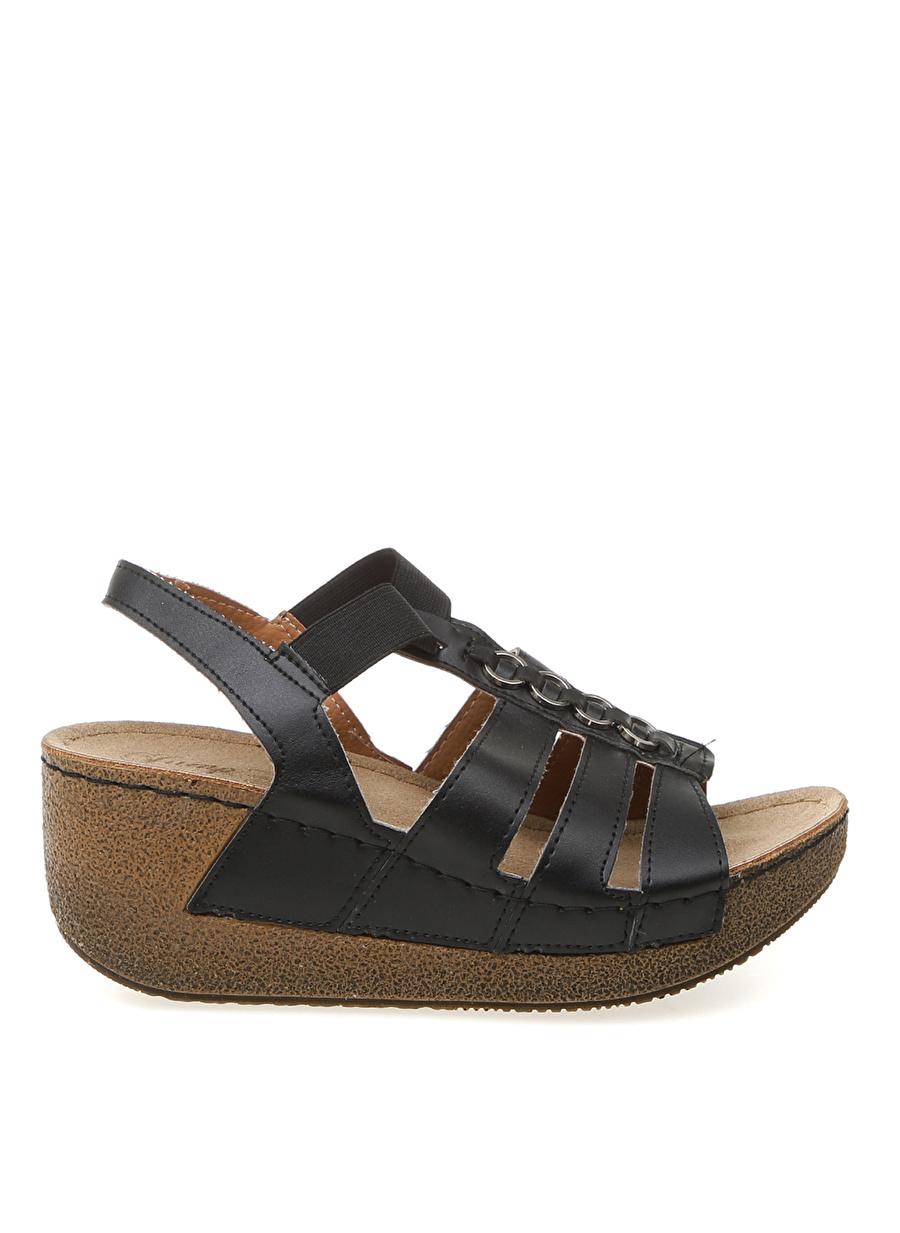 39 Siyah Jump Sandalet Ayakkabı Çanta Kadın Terlik