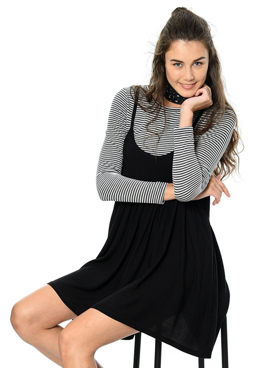 XS Çok Renkli Evil Twin Elbise Kadın Giyim