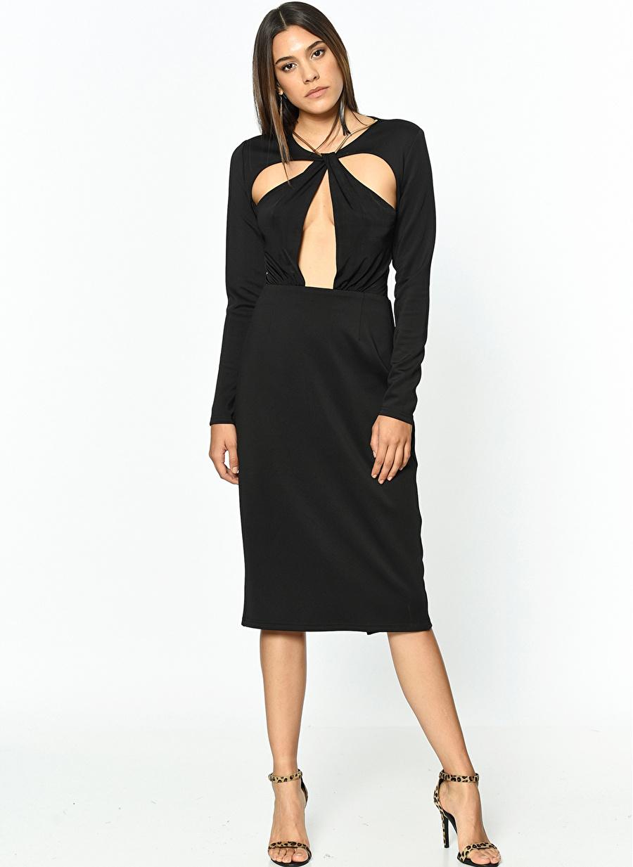 42 Siyah Girl İn Mind In Elbise Kadın Giyim