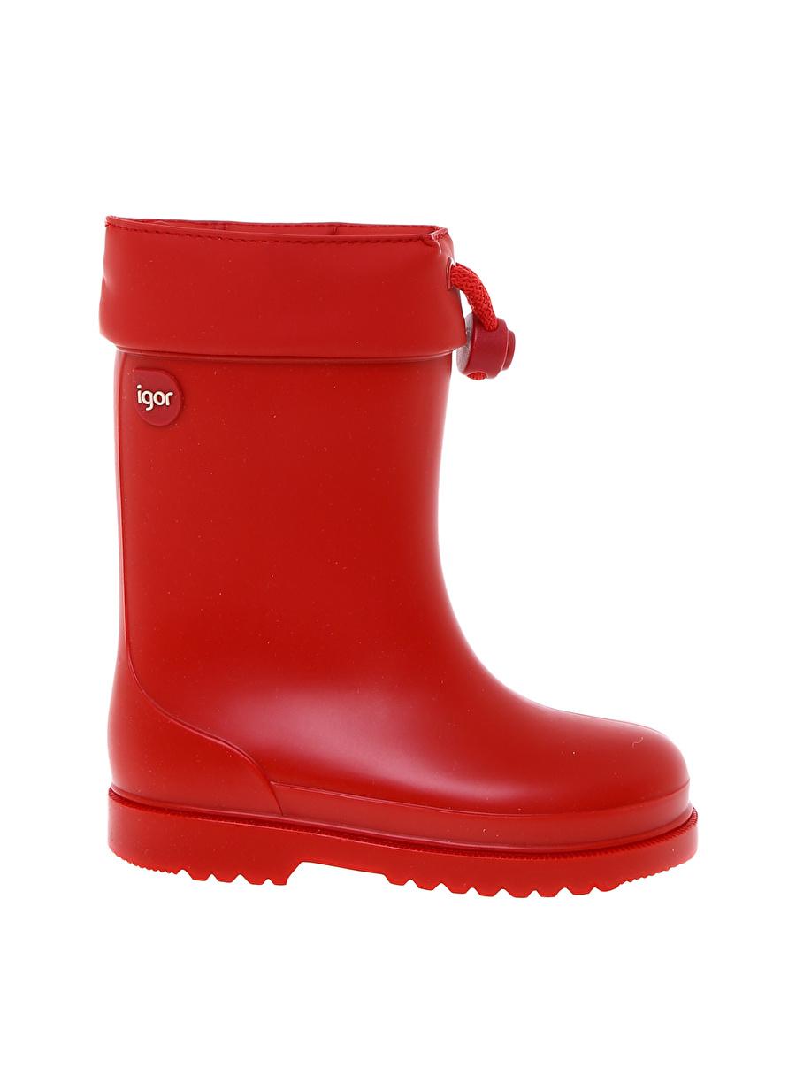 24 Kadın Kırmızı Igor Yağmur Botu Çocuk Ayakkabı Çizme