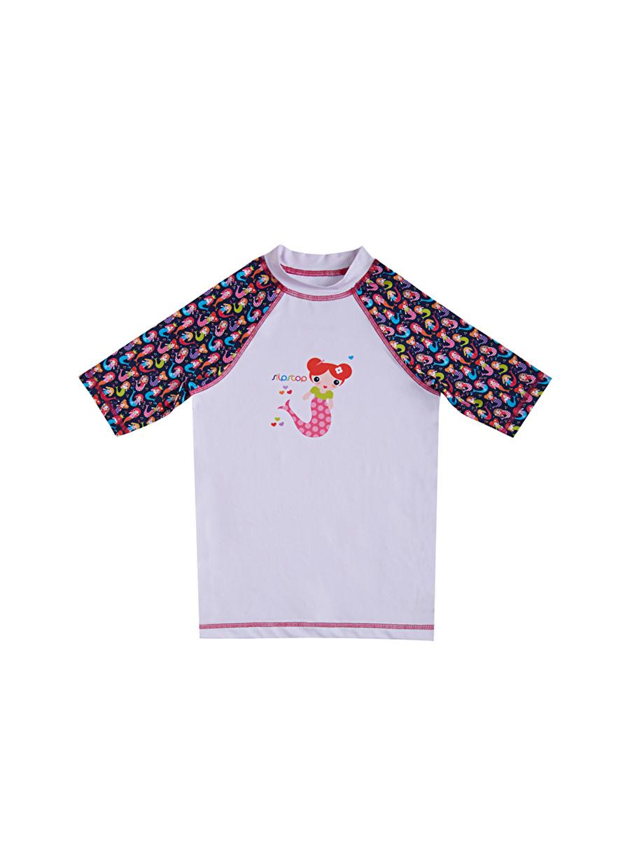 2 Yaş Kadın Çok Renkli Slipstop Mermaid T-Shirt Çocuk Bebek Giyim