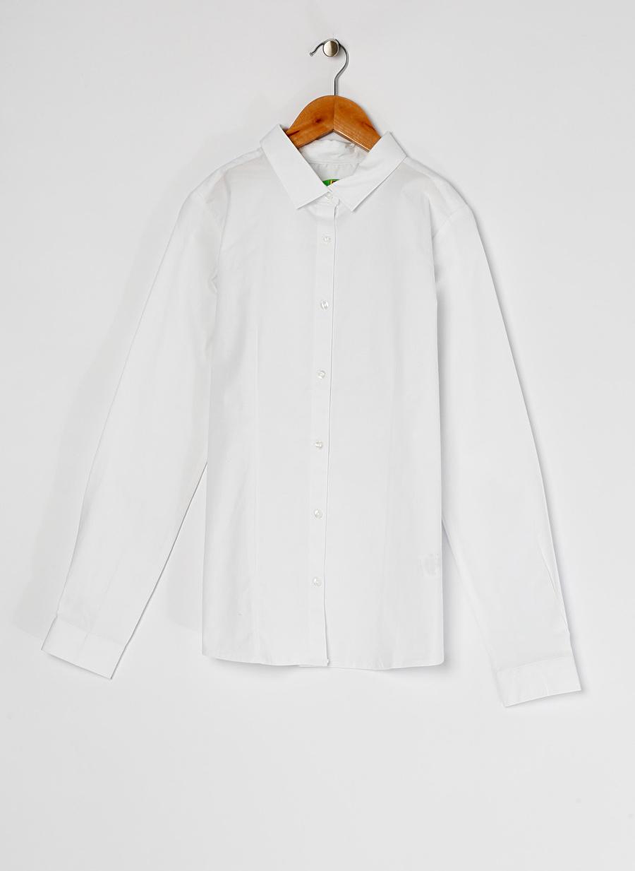 9-10 Yaş Kadın Beyaz Limon Kız Çocuk Gömlek Giyim