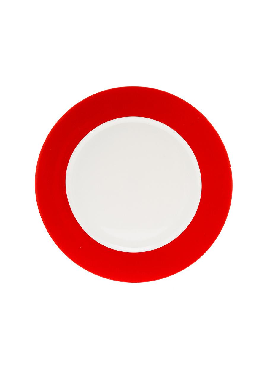 Standart unisex Renksiz Boyner Evde Bordo - Beyaz Yemek Tabağı Mutfak Sofra Ürünleri Tabak