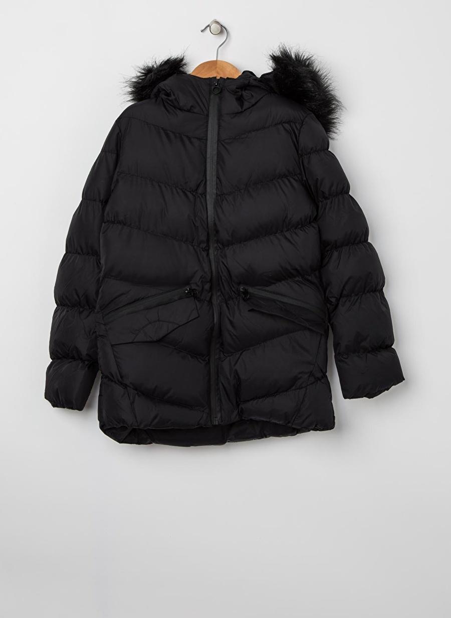 5 Yaş Kadın Siyah Pinkamp;Orange Pink&Orange Kız Çocuk Şişme Mont Dış Giyim