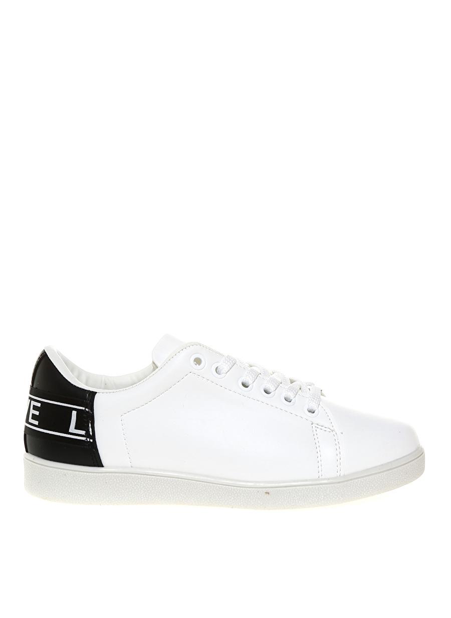 38 Beyaz Limon Kadın Casual Yürüyüş Düz Ayakkabı Çanta