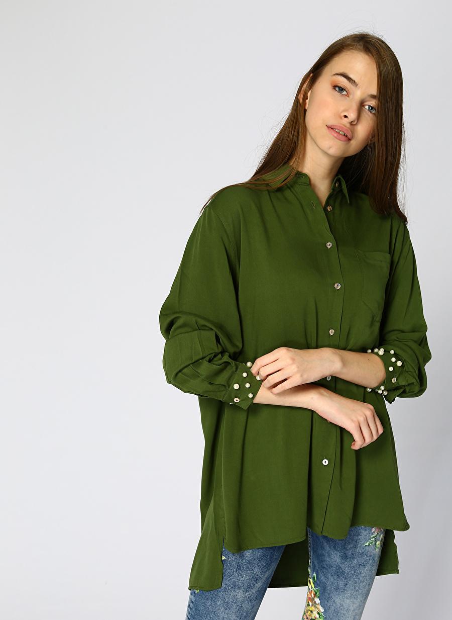 L Haki Fashion Friends Gömlek Kadın Giyim Bluz