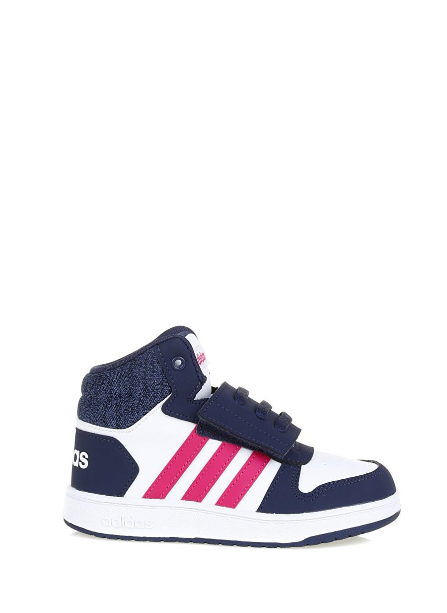 20 Erkek Beyaz - Pembe adidas Basketbol Ayakkabısı Çocuk