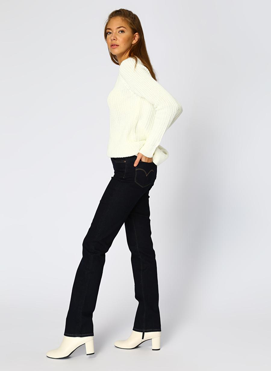 27-32 İndigo Levis 724 High Rise Straight To The Nine Denim Pantolon Kadın Giyim Jean Regular