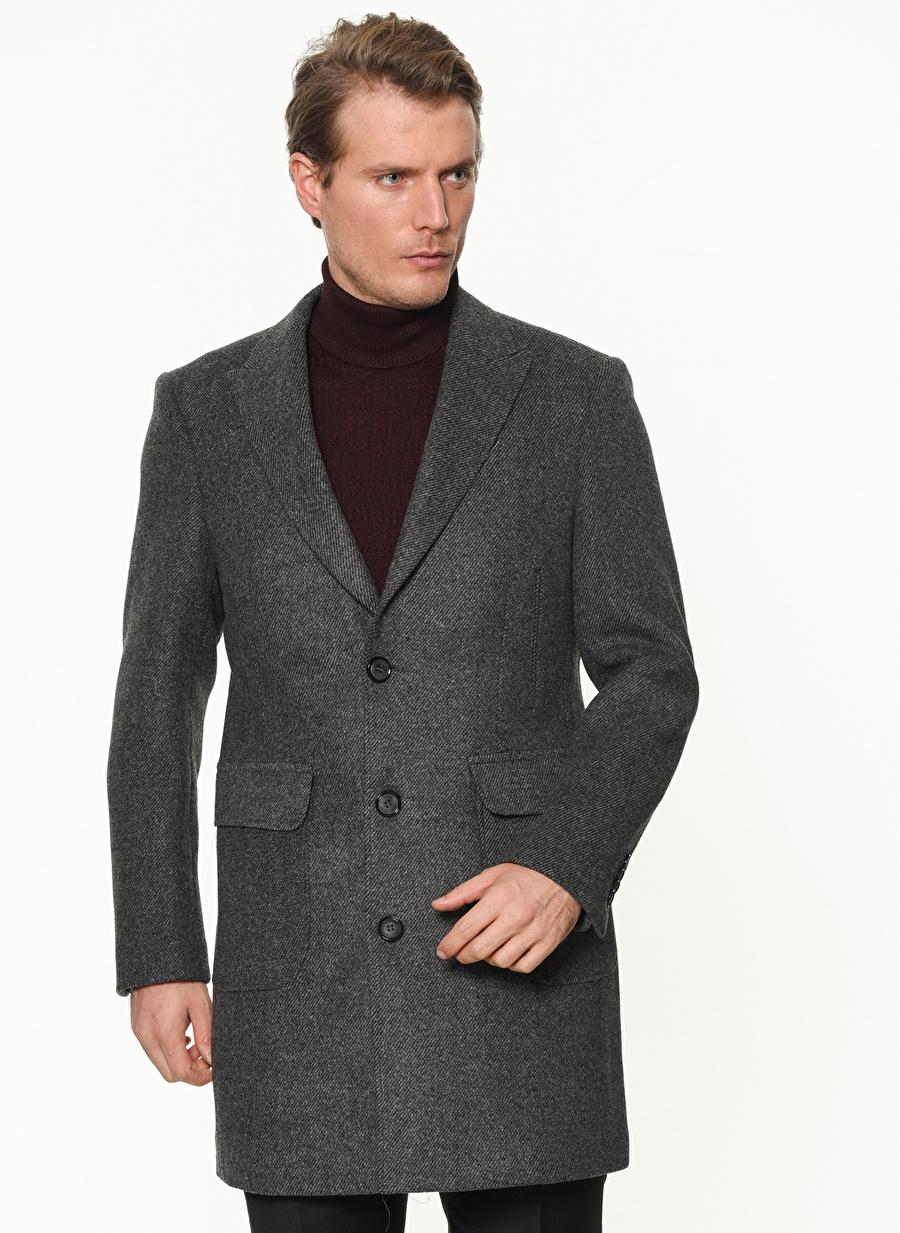 58 Koyu Antrasit Beymen Business Palto Erkek Dış Giyim Trençkot Pardösü