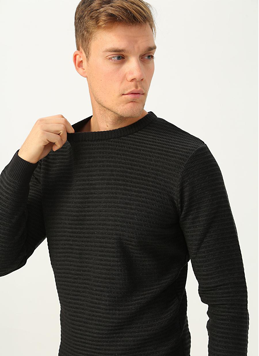 S Erkek Siyah George Hogg Kazak Knitwear Mens