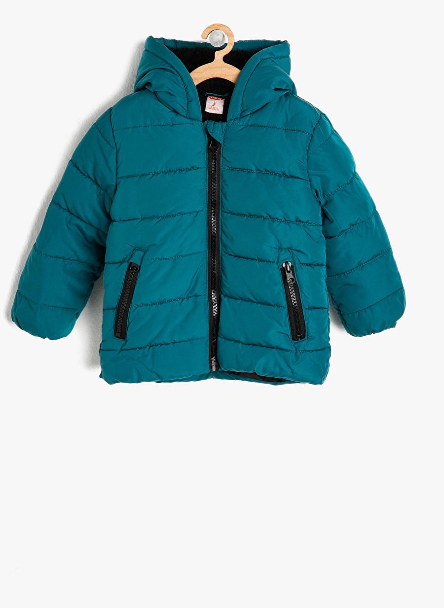 9 Ay Erkek Koyu Lacivert Koton Kaban Çocuk Dış Giyim Mont