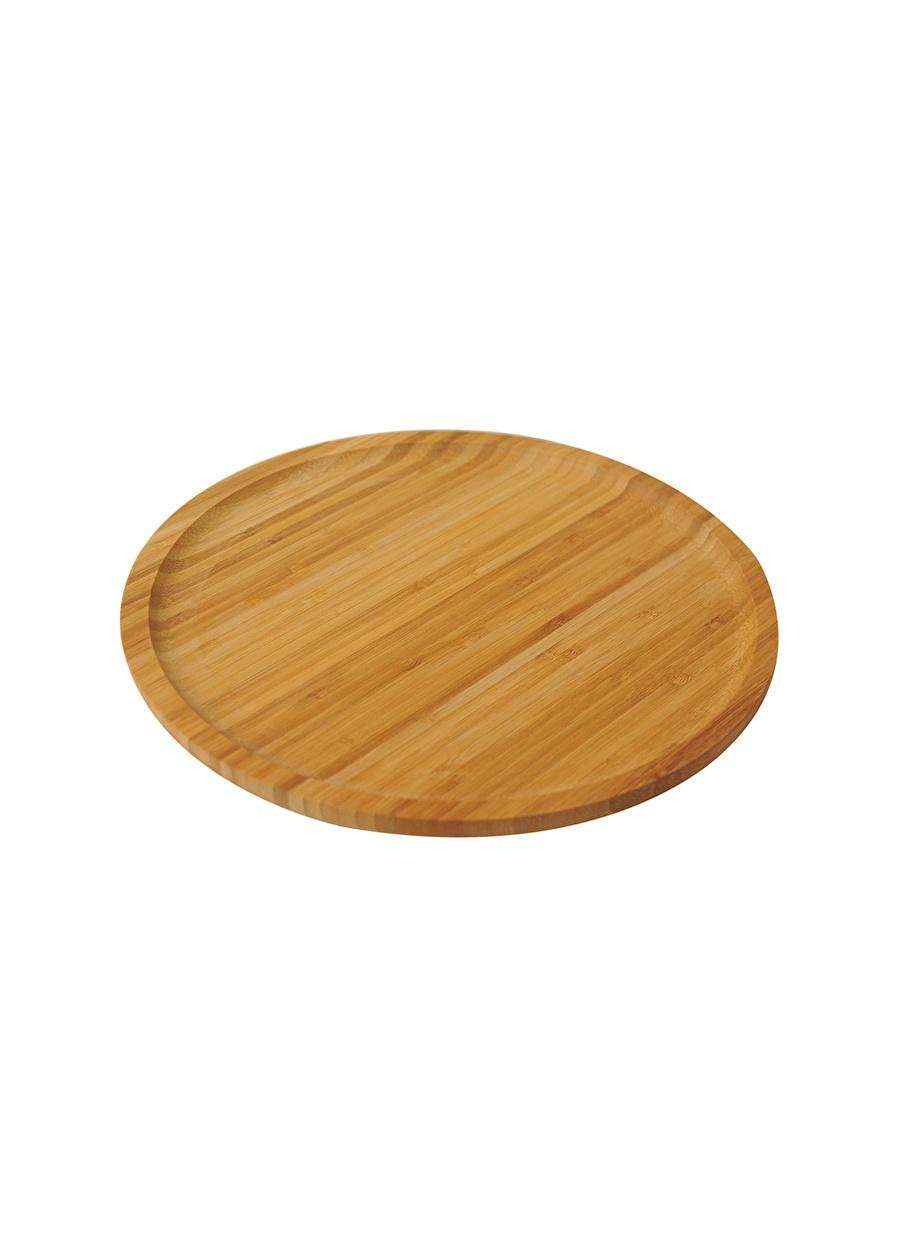 Standart unisex Renksiz Bambum Servis Tabağı Ev Mutfak Sofra Ürünleri Tabak