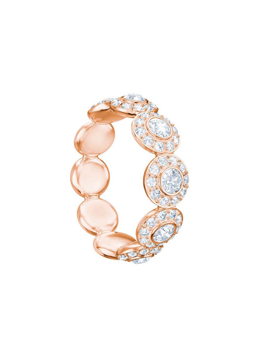 Standart Kadın Renksiz Swarovski 5441192 Angelic Beyaz Rose Altın Kaplama Yüzük Jewelry Accessories (Jwg)