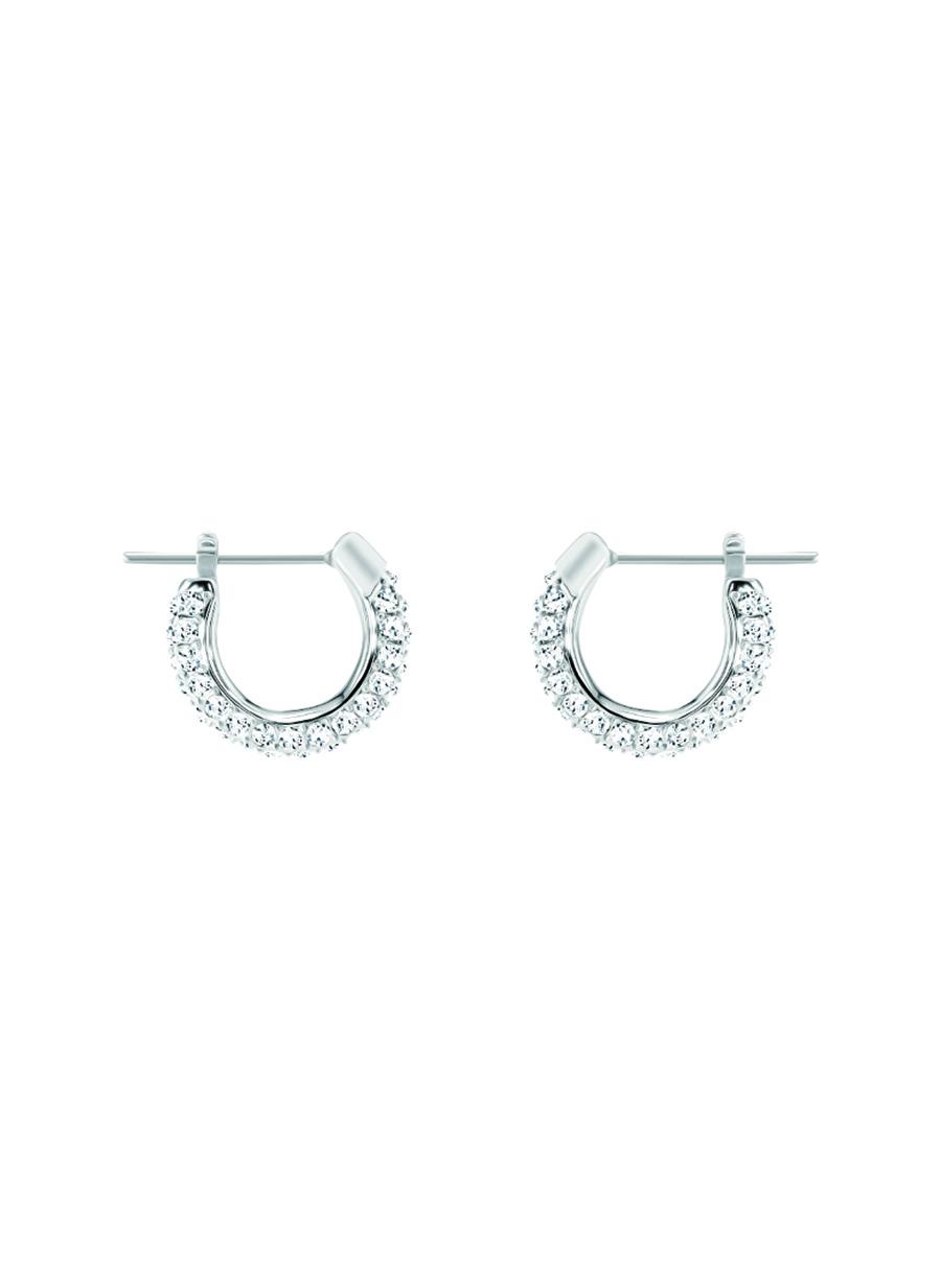 Standart Kadın Renksiz Swarovski 5446004 Stone Beyaz Rodyum Kaplama Küpe Jewelry Accessories (Jwg)