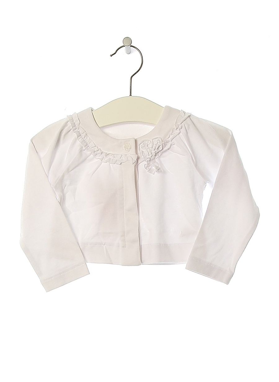 6 Ay Kadın Beyaz Prenatal Hırka Çocuk Giyim Kazak