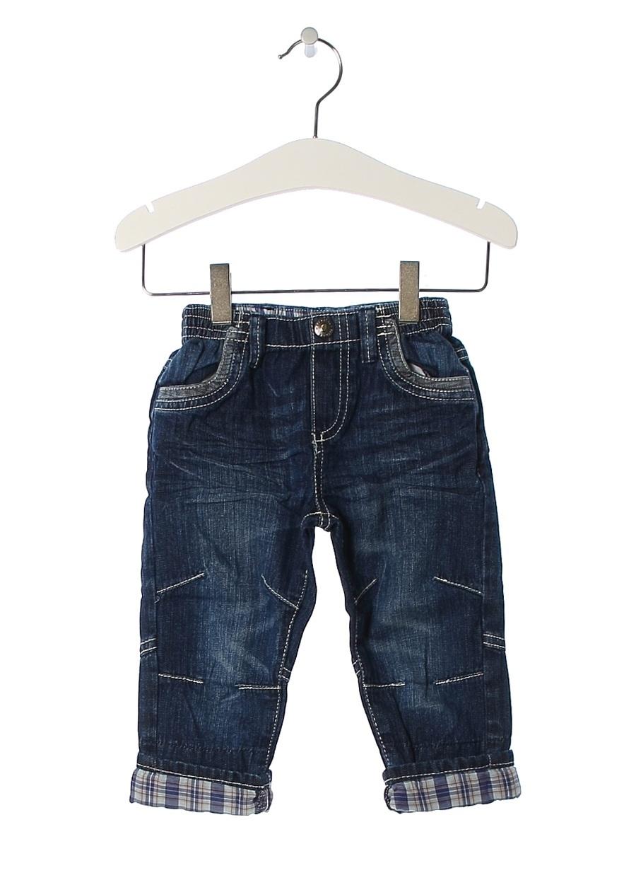 9 Ay Erkek Mavi Prenatal Pantolon Çocuk Bebek Giyim