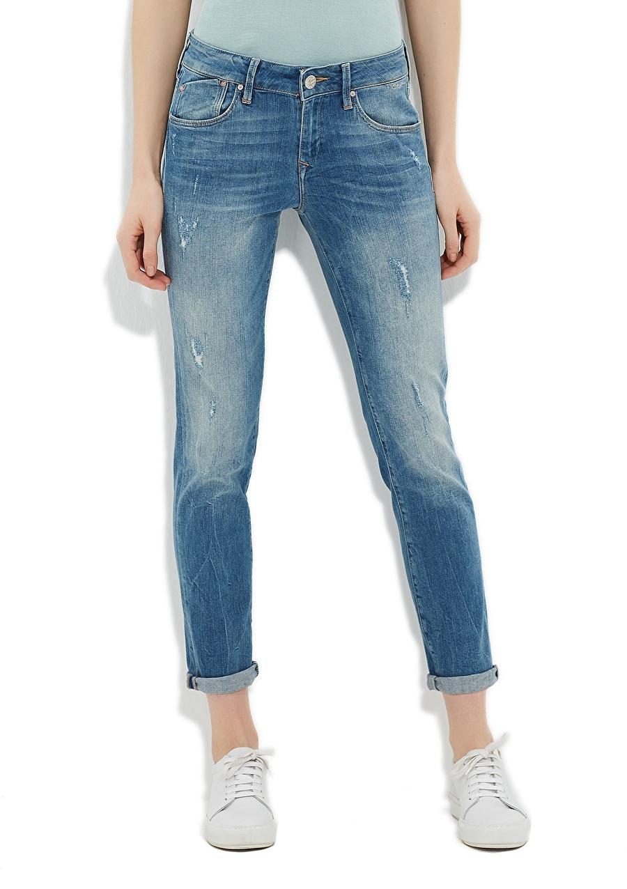 28-27 Renksiz Mavi Ada Used Rome Str Denim Pantolon Kadın Giyim Jean Slim