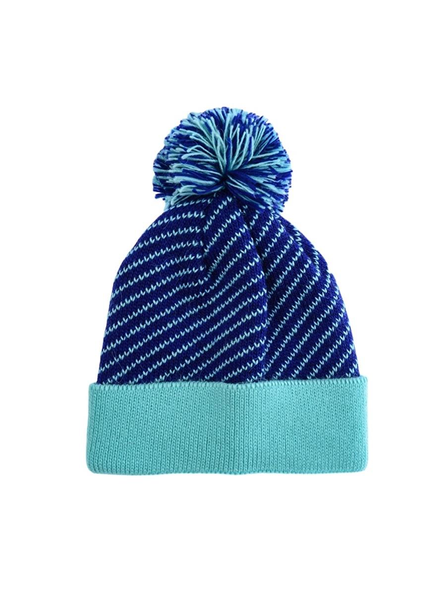 Standart Kadın Lacivert - Mavi Sarı Limon Bere Çocuk Aksesuar Şapka