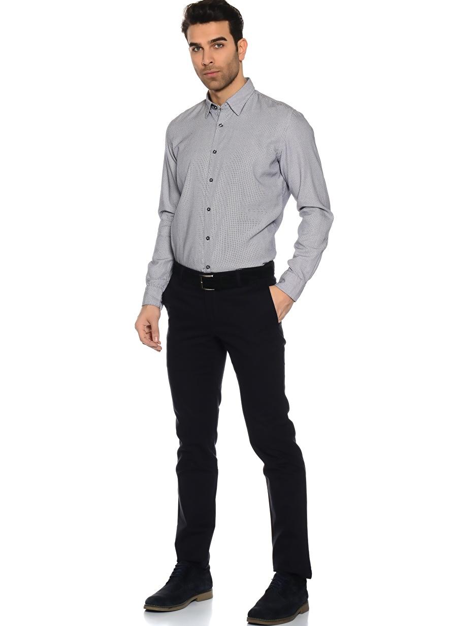 Standart Erkek Koyu Lacivert Dockers Slim Klasik Pantolon Bottoms Mens