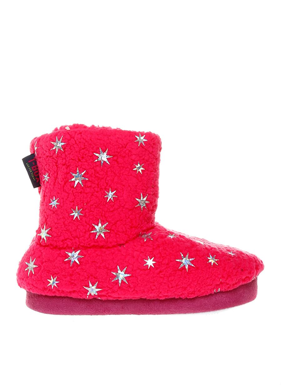 Kadın Pembe T-Box Kız Çocuk Ev Ayakkabısı İç Giyim Panduf Terliği