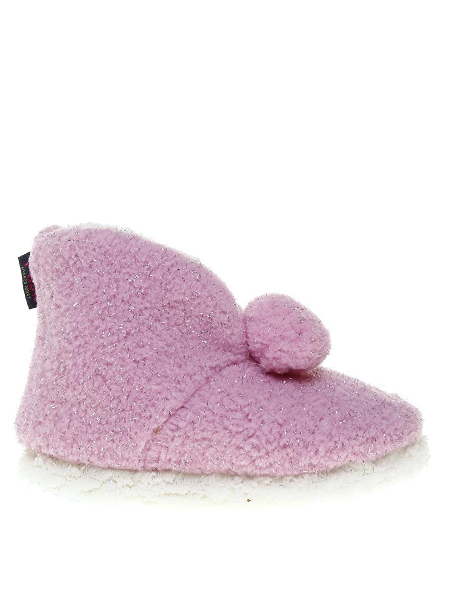 Kadın Pembe T-Box Ev Ayakkabısı Çocuk İç Giyim Panduf Terliği