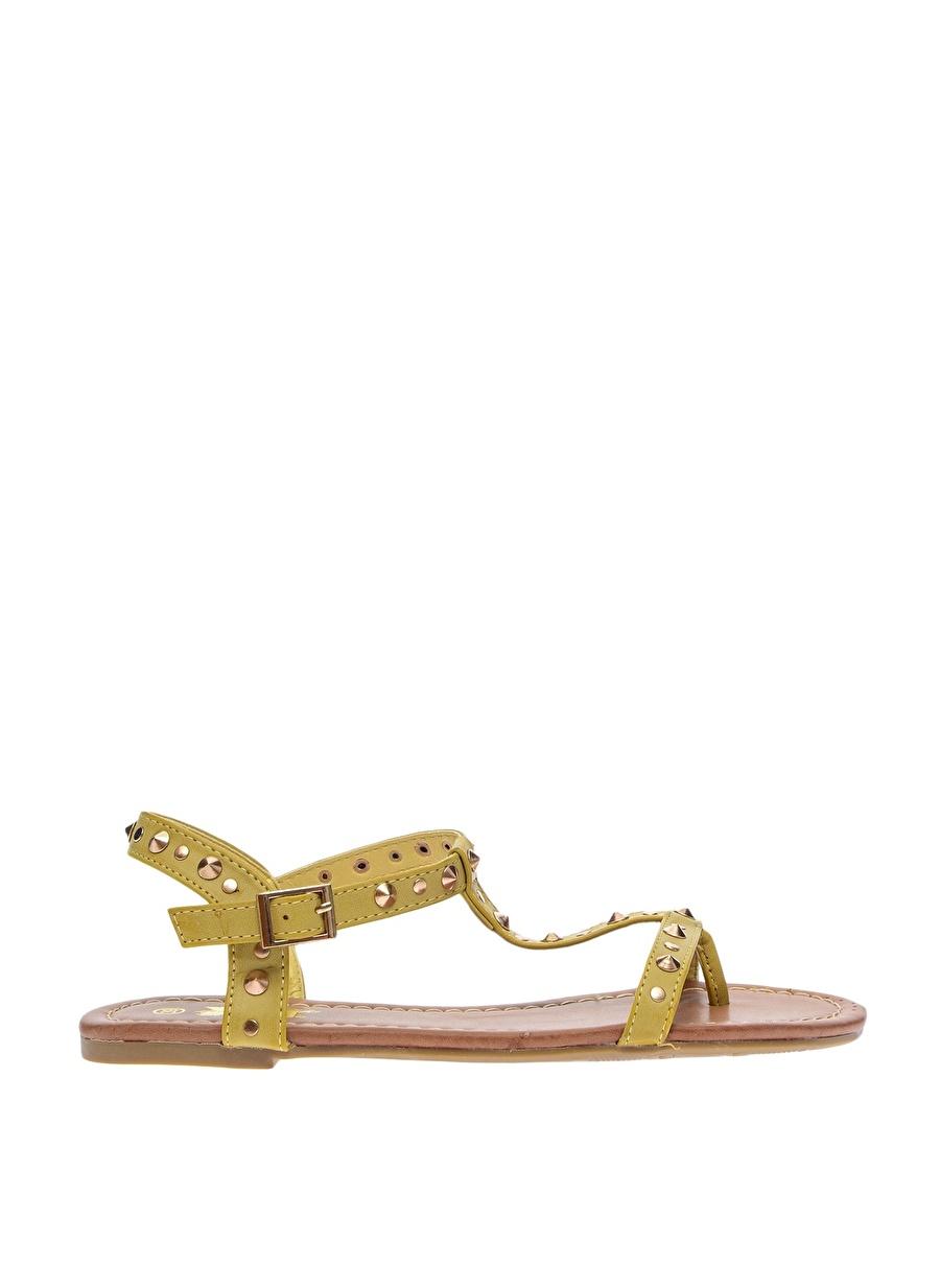 39 Sarı Xti Sandalet Ayakkabı Çanta Kadın Terlik