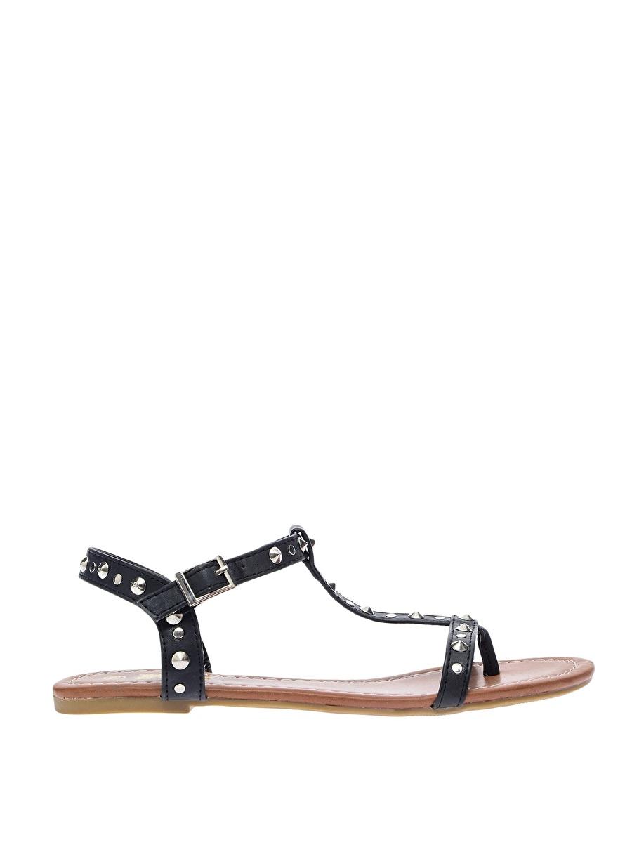 40 Siyah Xti Sandalet Ayakkabı Çanta Kadın Terlik