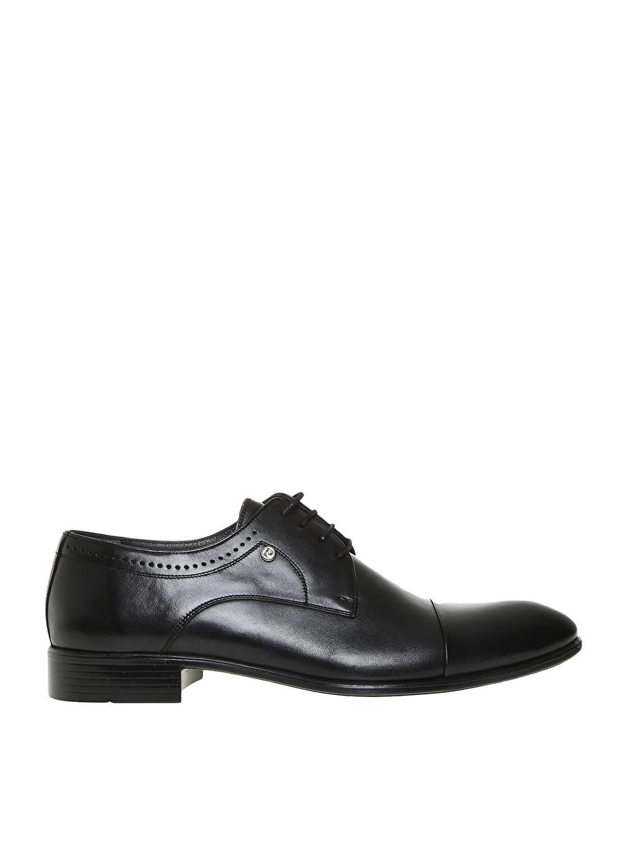 42 Siyah Pierre Cardin Erkek Deri Klasik Ayakkabı Çanta