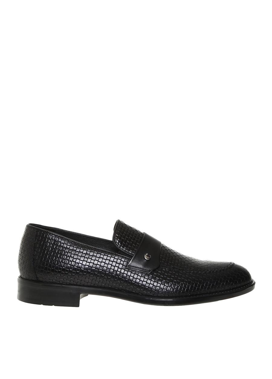 Cacharel Erkek Siyah Deri Klasik Ayakkabı