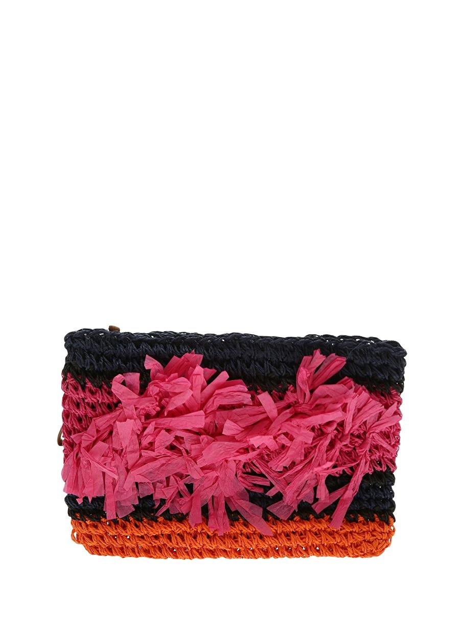Standart Pembe Koton Kadın Renkli Plaj Çantası Modelleri