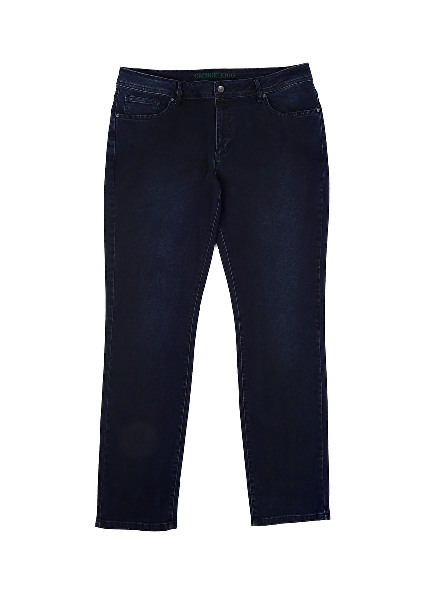 Standart Erkek Koyu Lacivert George Hogg Denim Pantolon Bottoms Mens