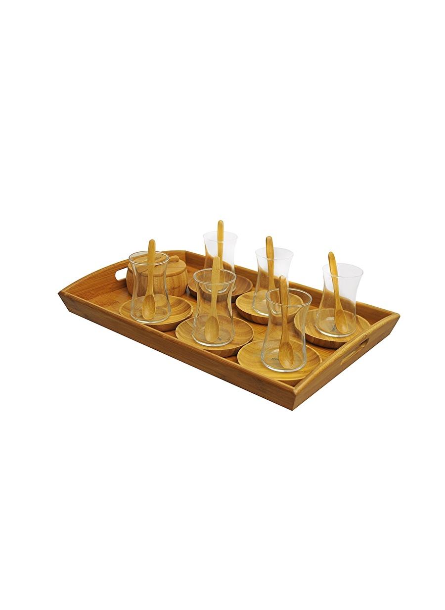 Standart unisex Renksiz Bambum Çay Fincan Ve Tabak Ev Mutfak Sofra Ürünleri Bardak