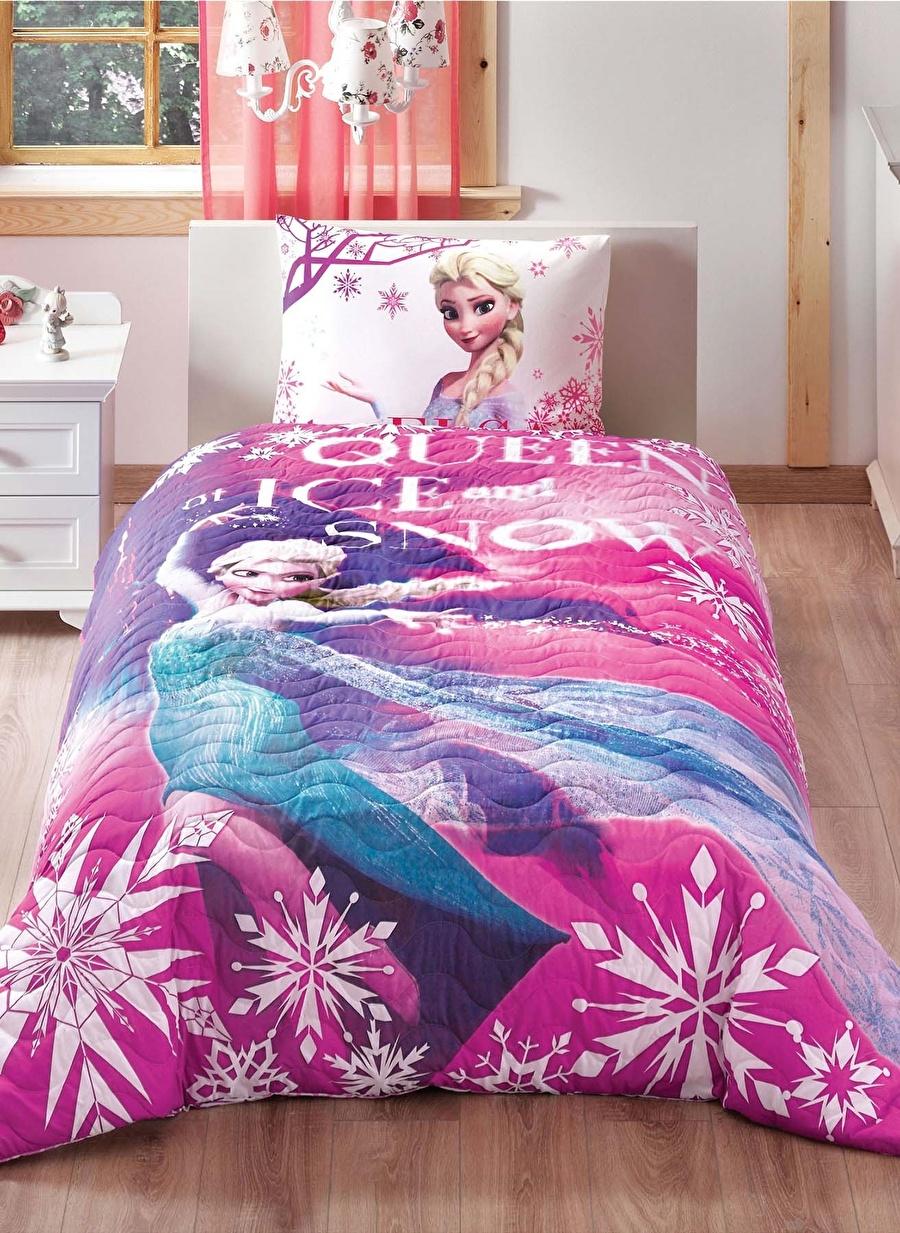 Standart unisex Renksiz Taç Disney Frozen Elsa Tek Kişilik Yatak Örtüsü Ev Tekstili