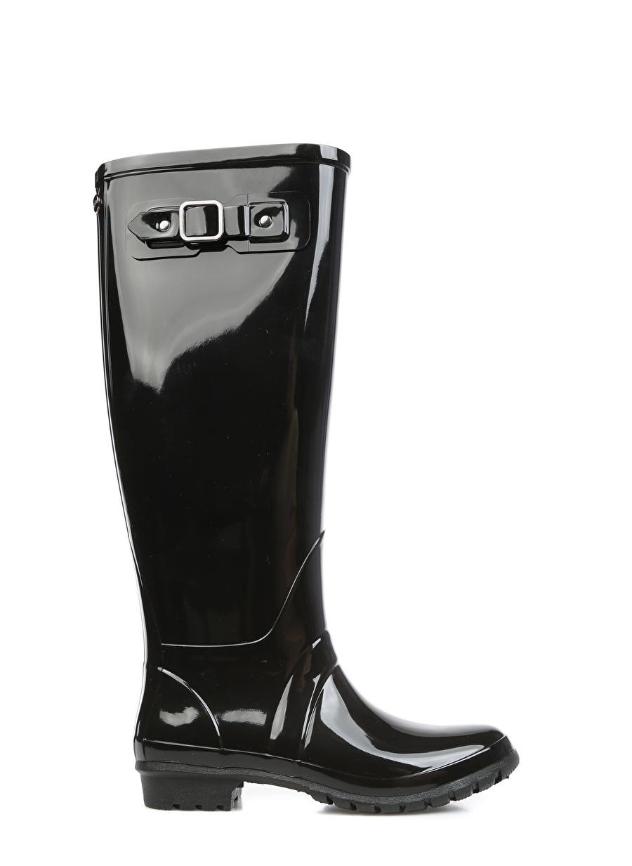 38 Siyah Igor Yağmur Çizmesi Ayakkabı Çanta Kadın Bot