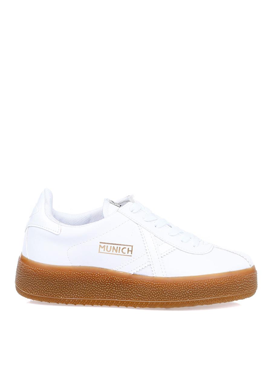 36 Beyaz Munich Kadın Düz Ayakkabı Çanta