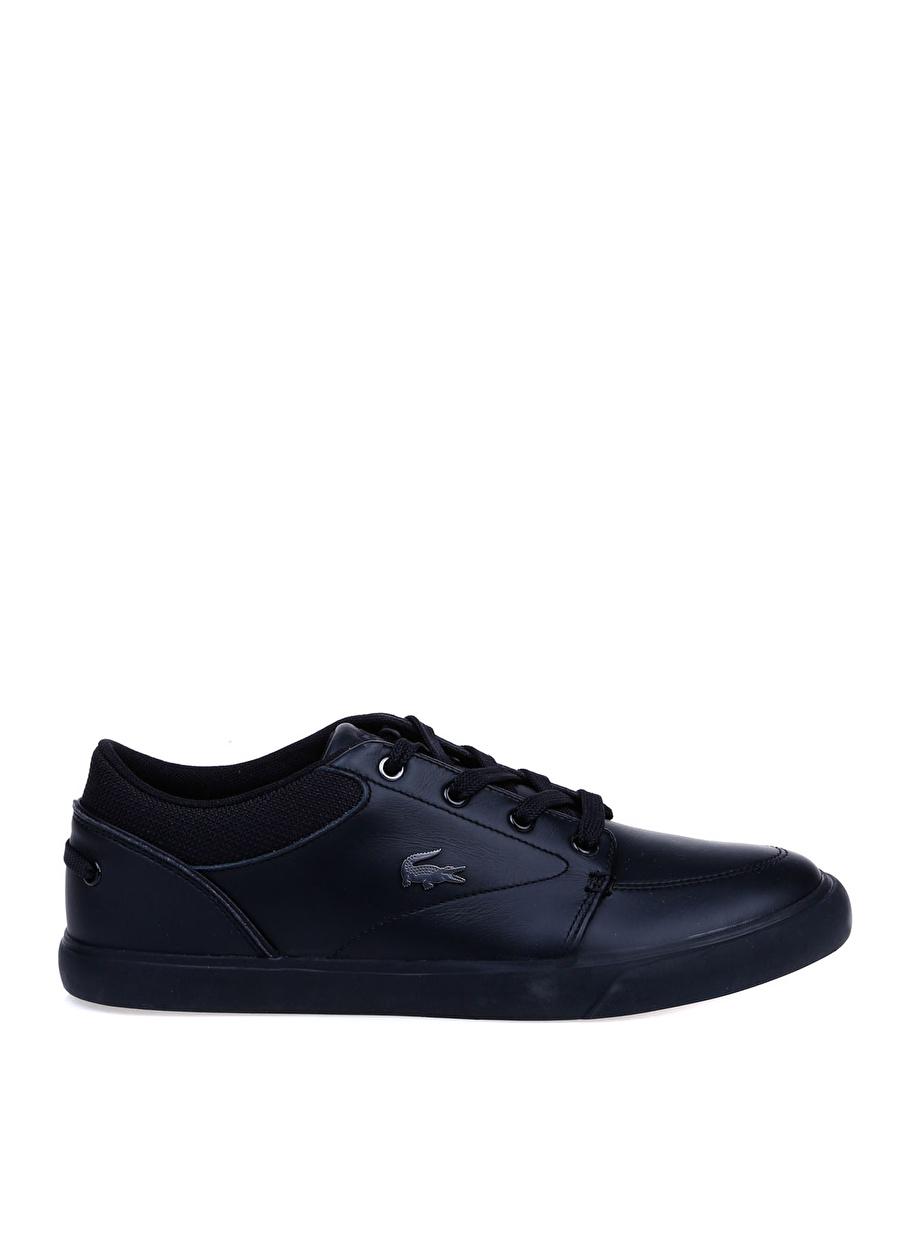 43 Siyah - Gri Lacoste Erkek Deri Lifestyle Ayakkabı Çanta Sneaker