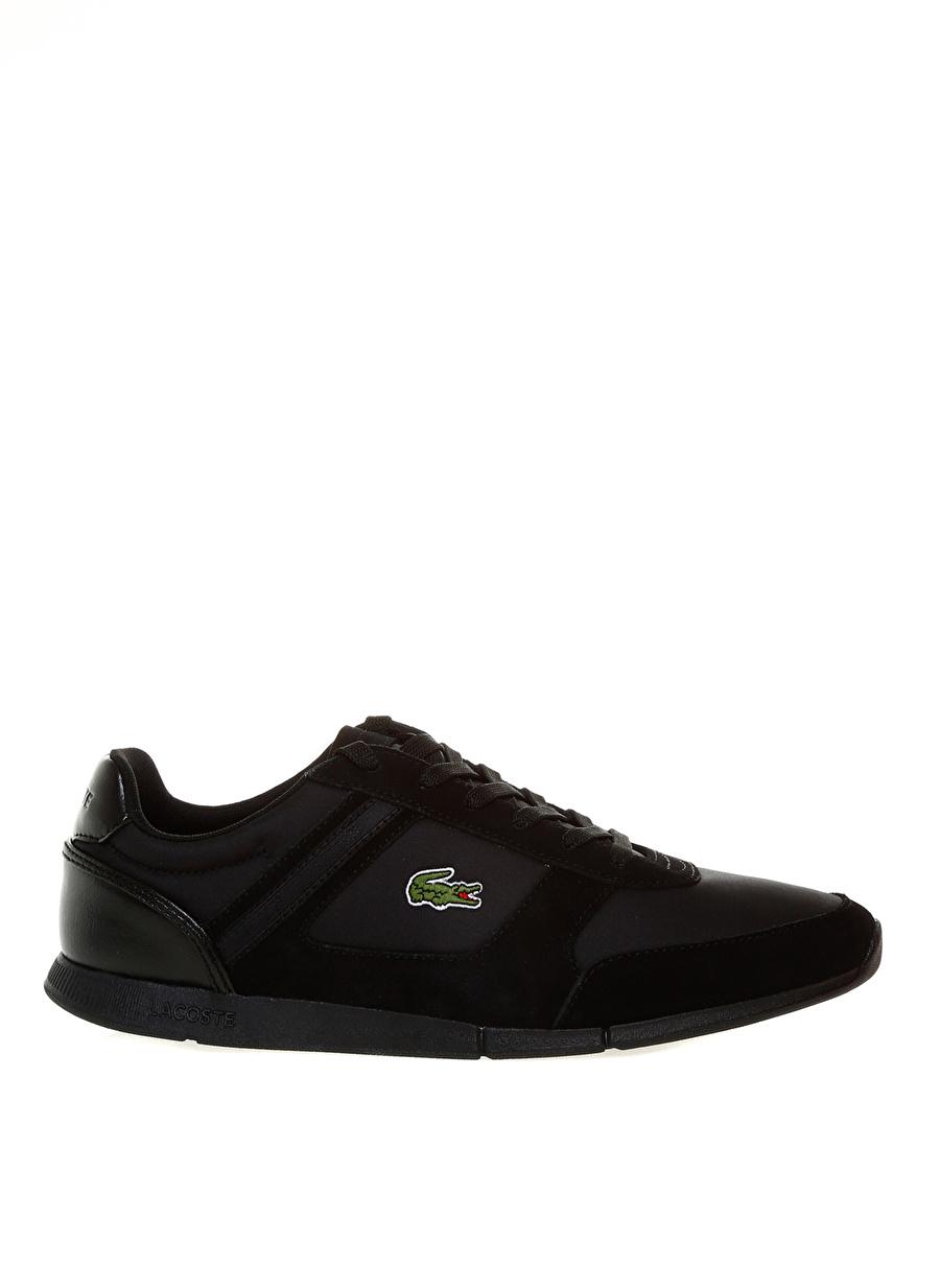 41 Siyah - Kırmızı Lacoste Lifestyle Ayakkabı Çanta Erkek Sneaker