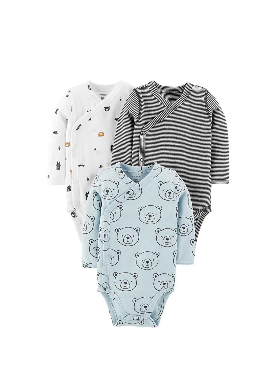 18 Ay unisex Mavi Carters BODY 3LÜ Çocuk Bebek Giyim