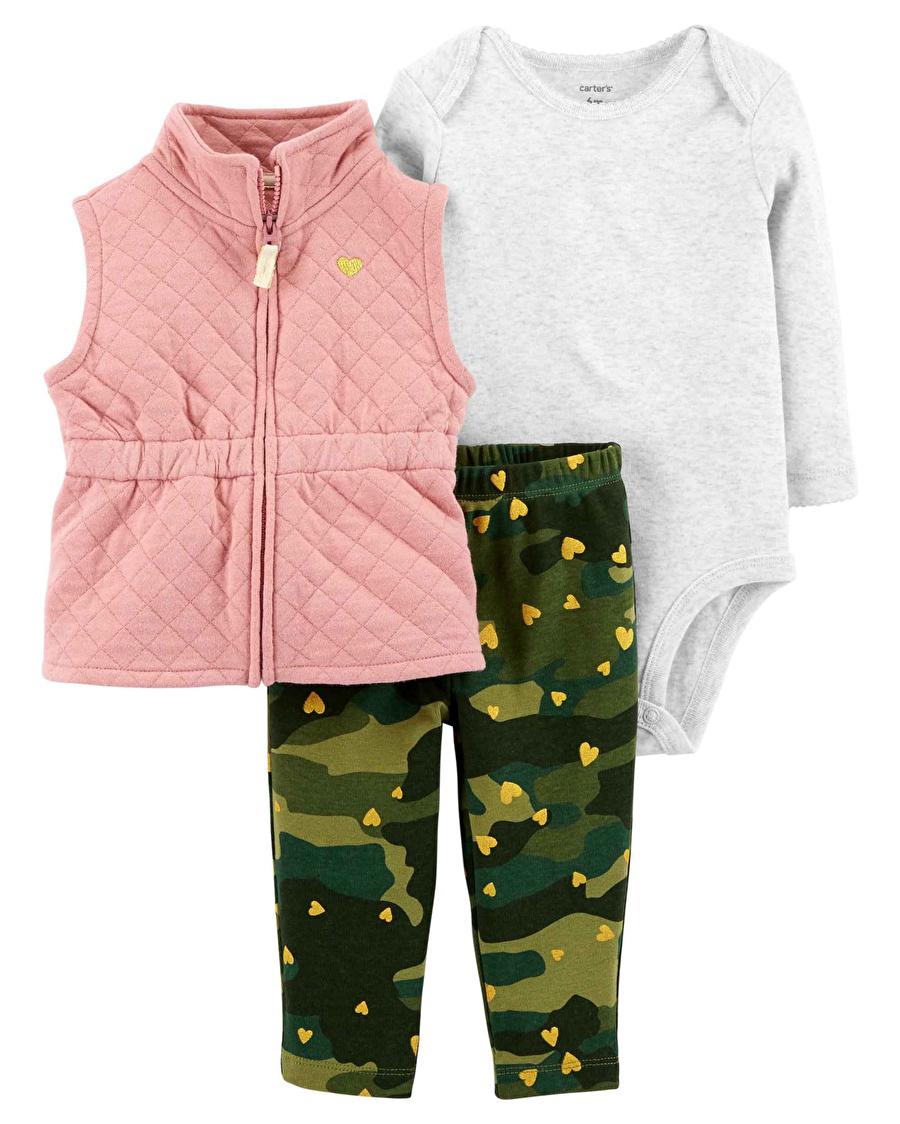12 Ay unisex Pembe Carters SET 3LÜ Çocuk Bebek Giyim