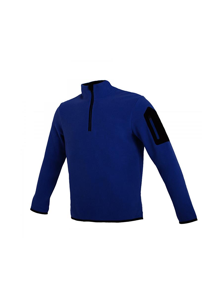 L Erkek Koyu Mavi Exuma Polar Sweatshırt Spor Outdoor Ürünler Ürünleri