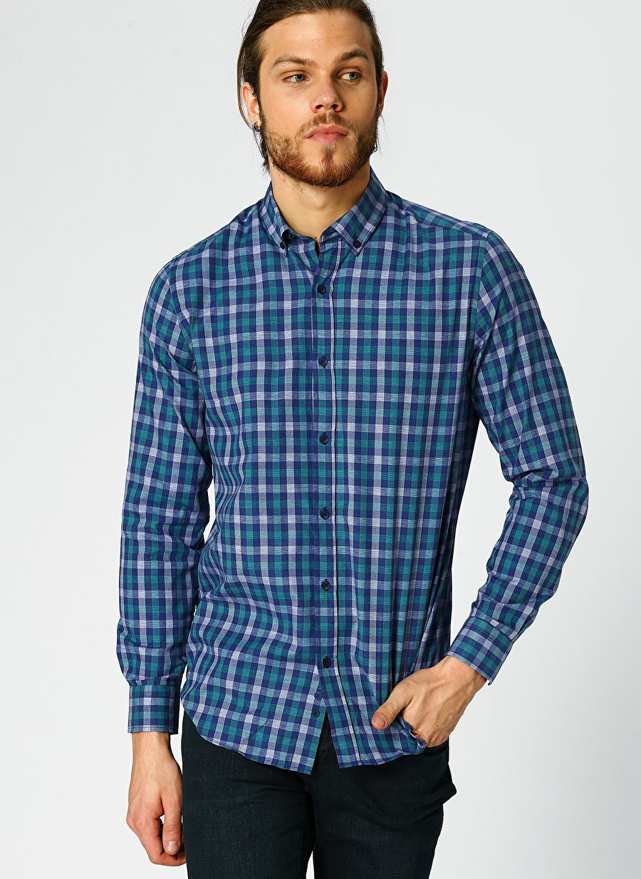 S Mint Limon Kareli Gömlek Erkek Giyim