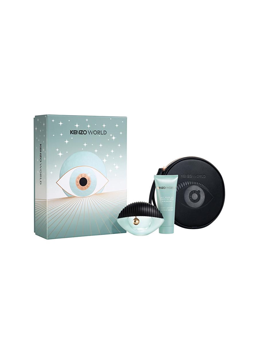 Standart Renksiz Kenzo World Edp 75 ml Kadın Parfüm Set Kozmetik Setleri