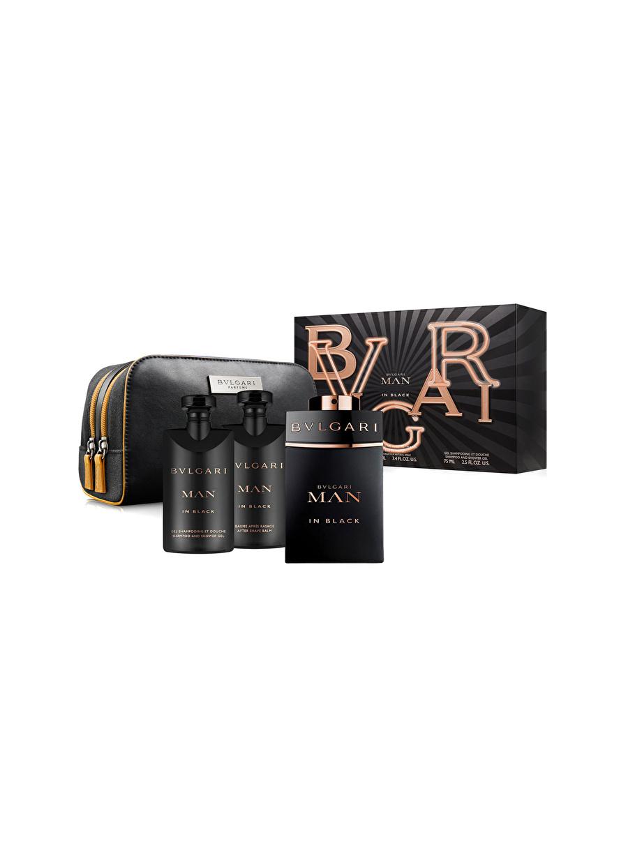 Standart Renksiz Bvlgari Man In Black Edp 100 ml Erkek Parfüm Set Kozmetik Setleri