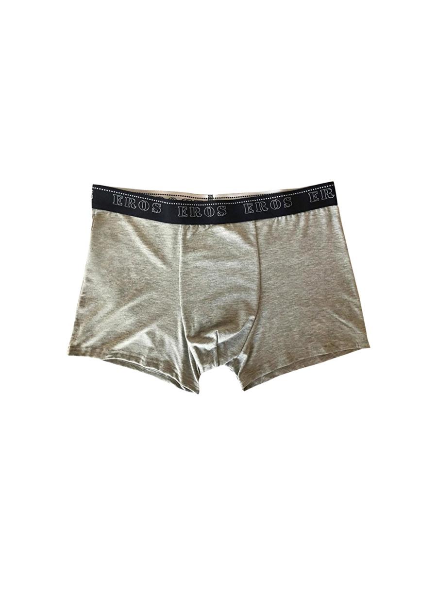 M Erkek Gri Melanj Er_Os Boxer Bottom Underwear Mens