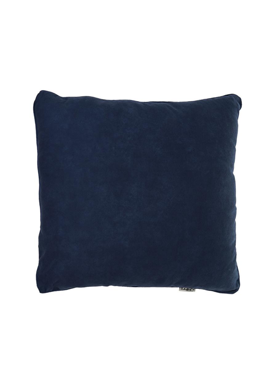 Standart unisex Koyu Mavi Sarev Kırlent Ev Tekstili Dekoratif Yastık